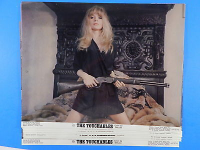 The TOUCHABLES 1968 11X14 Ester Anderson Movie ORIGINAL 8 LOBBY CARD Set LCs