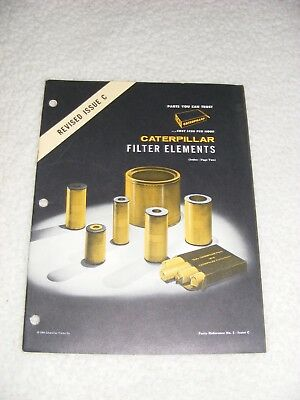 1964 Caterpillar CAT Filter Elements Parts Reference Booklet