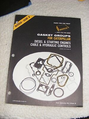 1963 Caterpillar CAT Gasket Groups Reference Booklet