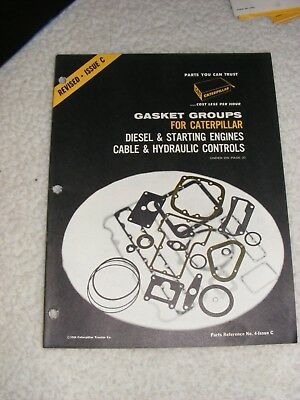1964 Caterpillar CAT Gasket Groups Reference Booklet
