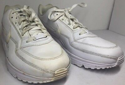 purchase cheap 6e3b3 bc4b5 Men s Nike Air Max LTD 3 Running White Leather Sneakers Sz 10.5 687977-111