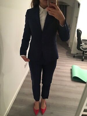 Beautiful Smart Reiss Taliored Suits With Trousers Dark Blue Size 8
