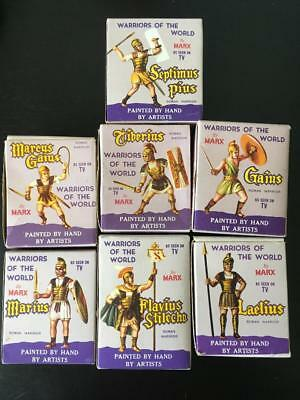 Collection Of Warriors Of The World Roman Soldiers With Boxes & Cards Marx