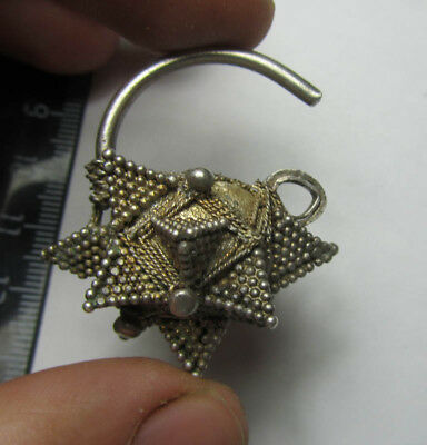 Ancient silver earring,Ancient earring  Metal detector finds  100% original