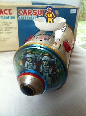 Original Made In Japan Space Capsule With Floating Astronaut TM