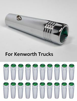 (Set/20) for Kenworth Green Toggle Switch Extension 2-1/4 Long, Chrome Metal