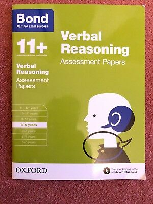 Bond 11+: Verbal Reasoning: Assessment Papers: 8-9 years by J. M. Bond, Bond...