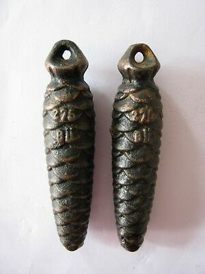 Original Pair of Vintage Cuckoo Clock Weights 275 grams BU