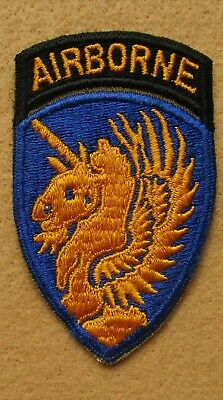 WWII 13th Airborne Division Patch - One Piece with attached Tab