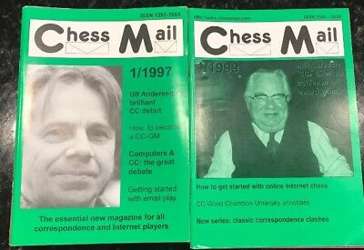 RARE! Chess Mail Magazine 1997 And 1999 Full Year Sets(22 Issues)