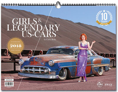 Girls & legendary US-Cars Wandkalender 2018 (52 Blätter Kalender Hot Rod Muscle)