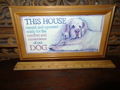 Framed Dog Picture, AKC, Great Pyrenese, Sheepdog (?), K9, Home Welcome Sign