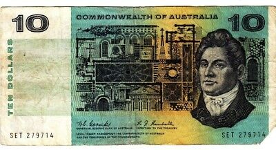 1967 Commonwealth of Australia Coombs/Randall $10 Paper Banknote - SET