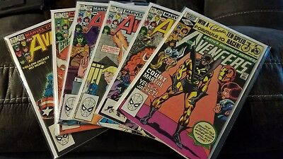 Avengers lot 5 comics 213 - 230, collection sell down