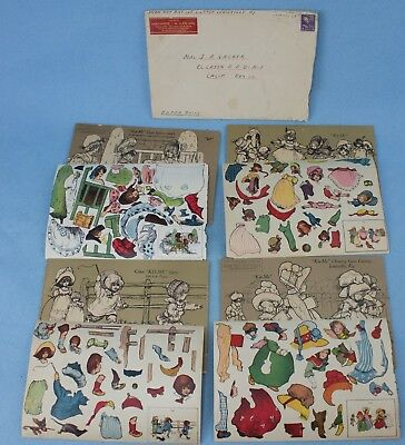 "Vintage ""Kis-Me"" Chewing Gum Factory Promotional Paper Dolls w Original Envelope"