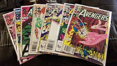 Avengers lot 8 comics 231-245, collection sell down Spider-man appearance