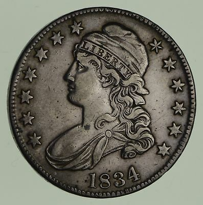 1834 Capped Bust Half Dollar - Circulated *1835