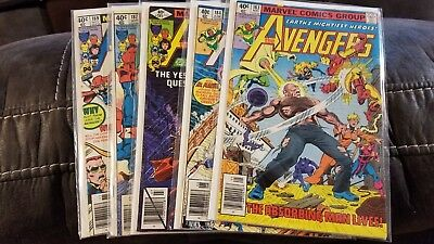 Avengers lot 5 comics 183-189, collection sell down High Grades
