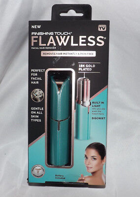 Flawless Finishing Touch Turquoise Facial Hair Remover All As Seen On Tv Nip