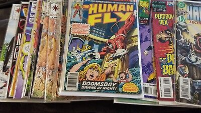 Misc lot of 22 comics Marvel, DC & Valliant, collection sell down