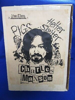~~ Rare! Charles Manson Helter Skelter Statue Model From Von Then Productions ~~