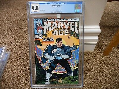 Marvel Age 51 cgc 9.8 Punisher cover 1987 WHITE pgs MINT movie TV Daredevil HOT