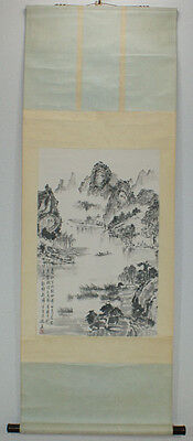 "Chinese Hanging scroll  ""Landscape painting"" #1538"