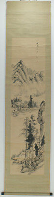 "Chinese Hanging scroll,""a landscape in a painting"" #2277"