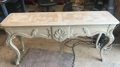 Solid Oak Hand-Carved Table
