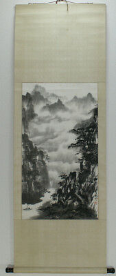 "Chinese Hanging scroll,""a landscape in a painting"" #2279"