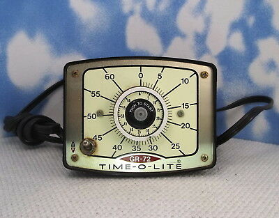 Time-O-Lite Gr-72 60 Second PHOTO ENLARGING TIMER 750 Watts. Tested / Works h21
