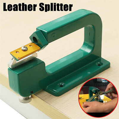 Aluminum Edge Skiving Tool Paring Cutter Leather Craft Device Leather Splitter
