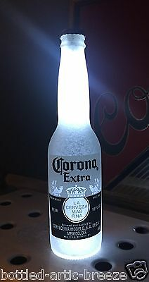 Corona White 12 oz Beer Bottle Light LED Pub Bar Pool Man Cave Neon Bar