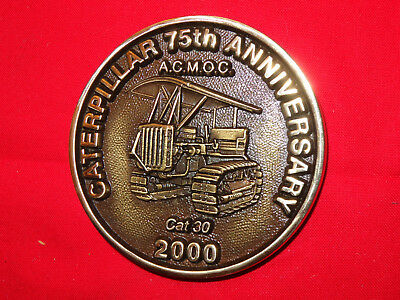 Vintage Antique Caterpillar Machinery Owners Club 75th Anniversary Medallion MIB