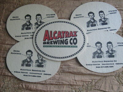 5 Alcatraz Brewing Co Coasters Indianapolis Indiana Estate Coaster Collection