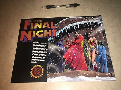Final Night promo book DC Superman the Batman Justice League JLA Wonder Woman
