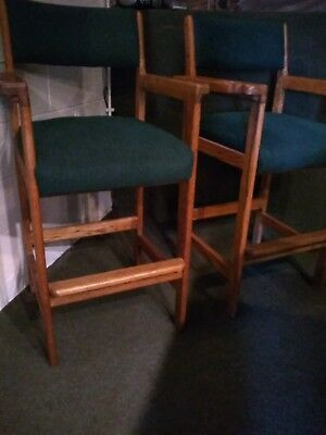 Set Of 2 Spectator Billiard Chairs Made Of Oak And In Great Condition