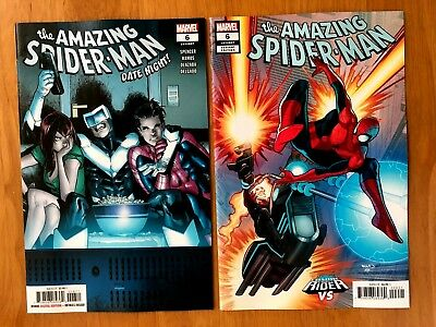 AMAZING SPIDERMAN 6 (2018) Ramos Main + Cosmic Ghost Rider Variant 9/26/18 NM+