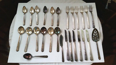 Lot Of Vintage William A. Rogers Aa Heavy Silver Plate Flatware
