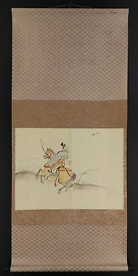 JAPANESE HANGING SCROLL ART Painting  Asian antique  #E3989