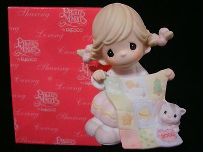 Precious Moments-Girl/Quilt-So-Sew Special-Limited Edition Figurine