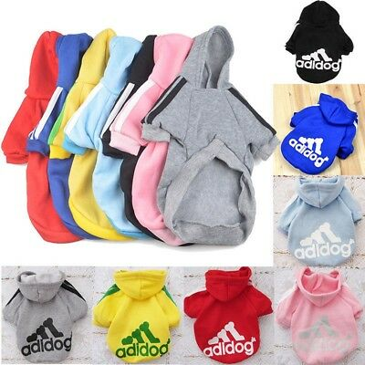 Warm Winter Casual Adidog Pet Dog Cat Clothes Warm Hoodie Coat Jacket Sweatshirt