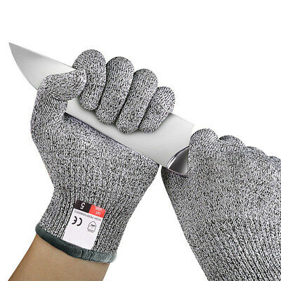 2 Pairs Cut Resistant Gloves Anti-Cutting Level 5 Kitchen Tool Butcher Protector