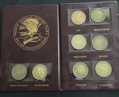 North America Hunting Club Big Game Collector Series Folder Token / Medals NAHC