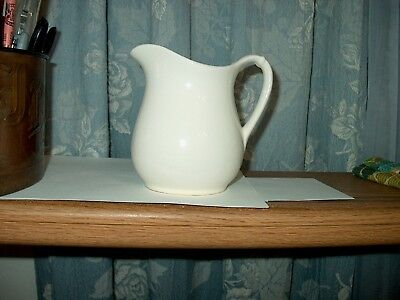 Early 1900s  W.S. George White Granite  Pitcher  295 B  (U.S.A. Made ) Signed