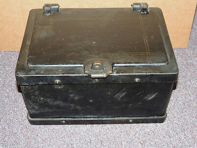 Antique Cast Iron Stagecoach Strong Box Safe 1800's Heavy