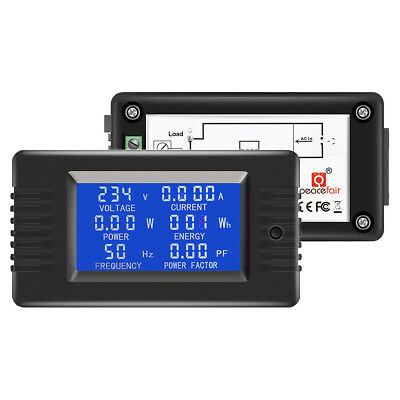 AC 800-260V 5A 10A 100A Voltage Amp Frequency Power Factory Energy Panel Meter