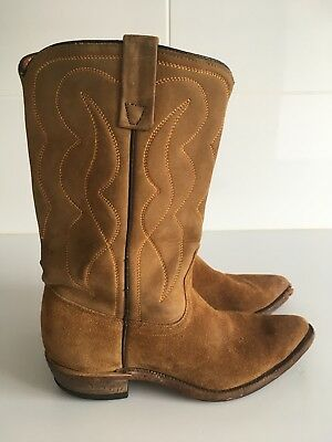Acme Leather and Suede Vintage Cowboy Boots Size 40 (au Unisex 7.5). Made In USA