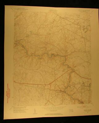 Ellicott City Maryland 1953 Catonsville vintage USGS Topographical chart