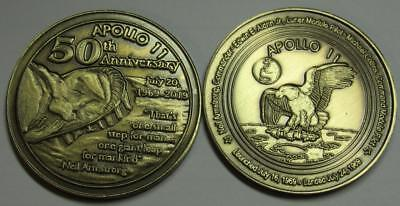 Apollo 11 50Th Anniversary Bronze Medallion Coin The Eagle Has Landed